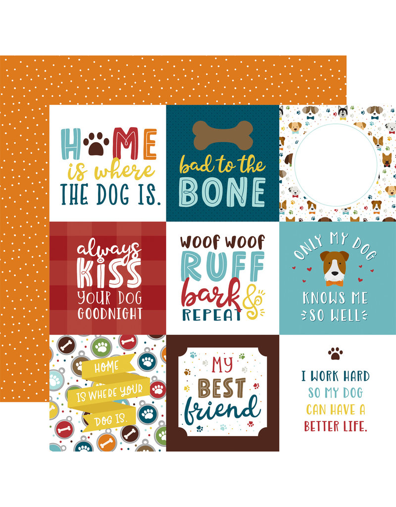 My Dog Paper: 4X4 Journaling Cards