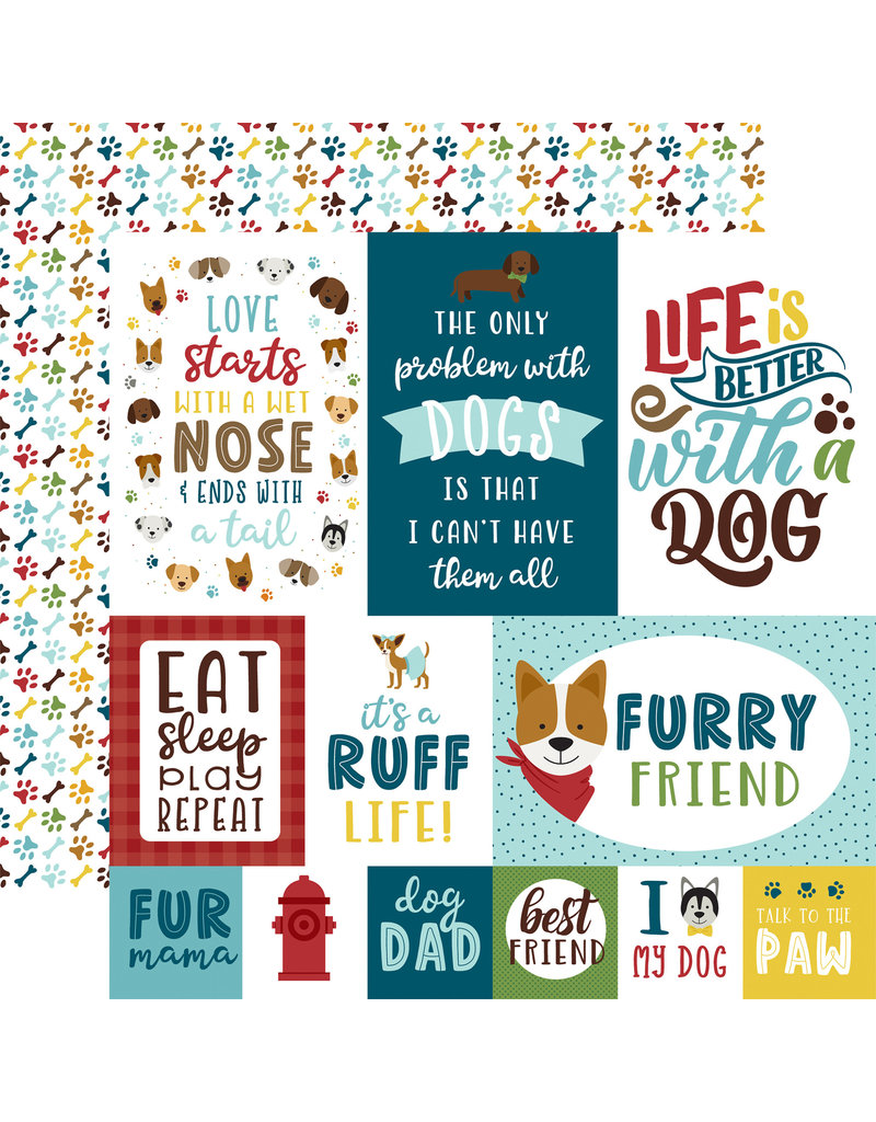 My Dog Paper: 4X6 Journaling Cards