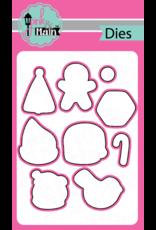 pink & main Christmas Cookies Die
