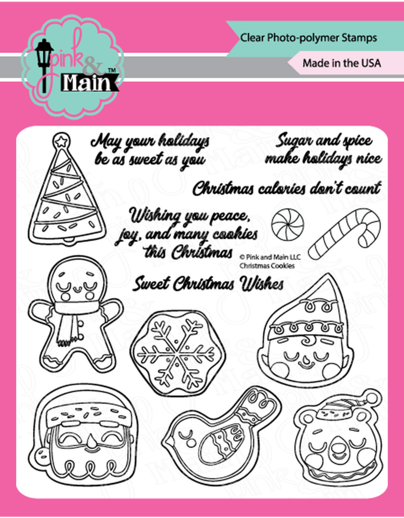 pink & main Christmas Cookies Stamp
