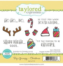 Taylored expressions Big Grumpy Christmas Stamp