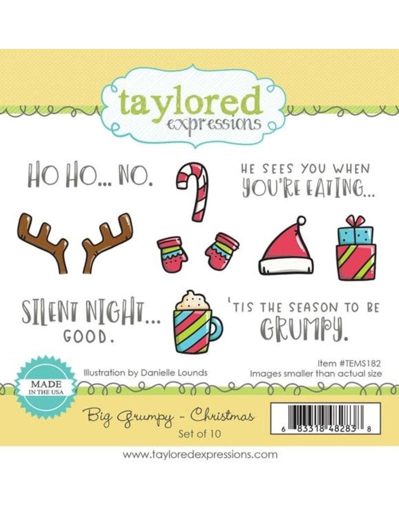 Taylored expressions Big Grumpy Christmas Stamp