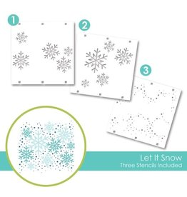 Taylored expressions Let It Snow Layering Stencil