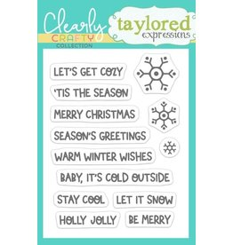 Taylored expressions Warm Winter Wishes Stamp