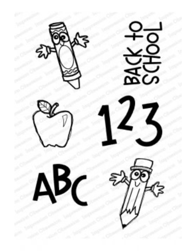 Impression Obsession Back to School Stamp