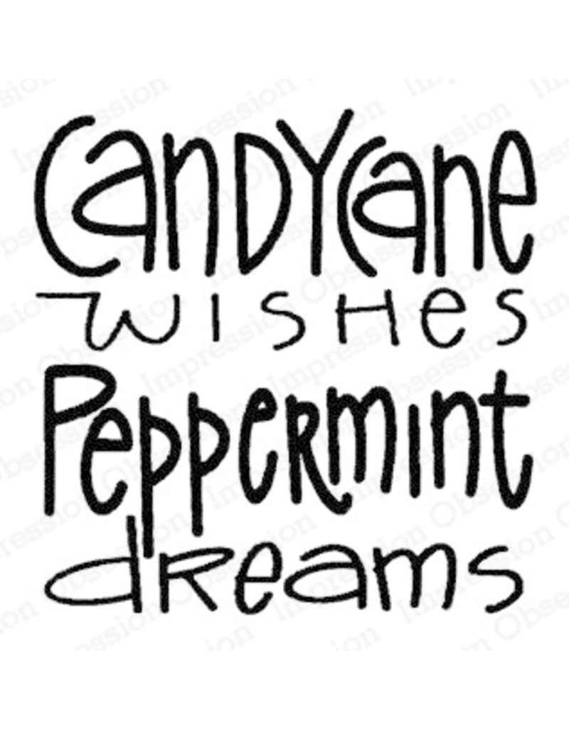 Impressn Obsessn Candy Cane Wishes Stamp