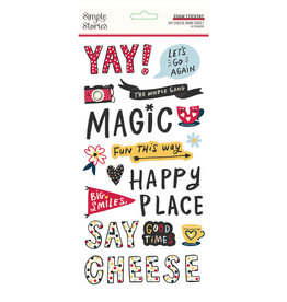 simple stories Say Cheese Main Street :  Foam Stickers