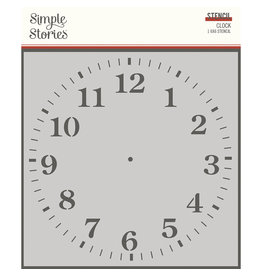 simple stories SV Ancestry :  6x6 Stencil :  Clock