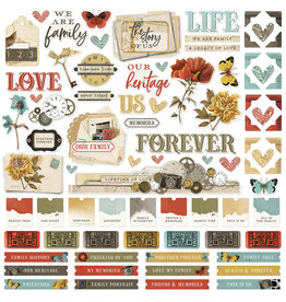 simple stories SV Ancestry :  Cardstock Sticker