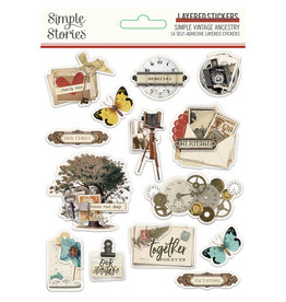 simple stories SV Ancestry :  Layered Stickers