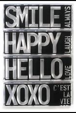 Elizabeth Crafts Block Words Stamp: Hello