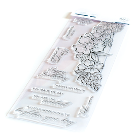 pinkfresh studios Floral Notes Stamp Set