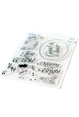 pinkfresh studios Merry and Bright Frame Stamp