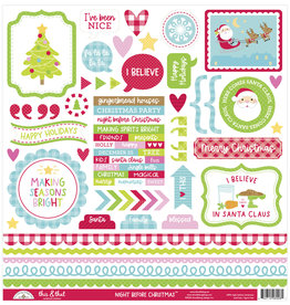 DOODLEBUG night before christmas this & that sticker
