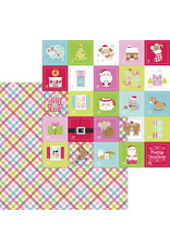 DOODLEBUG night before christmas cozy quilt double-sided cardstock