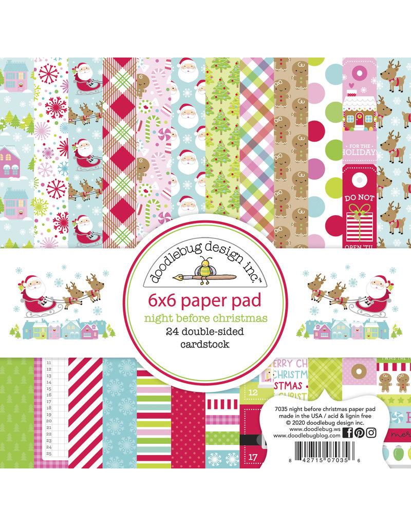 DOODLEBUG night before christmas 6x6 paper pad