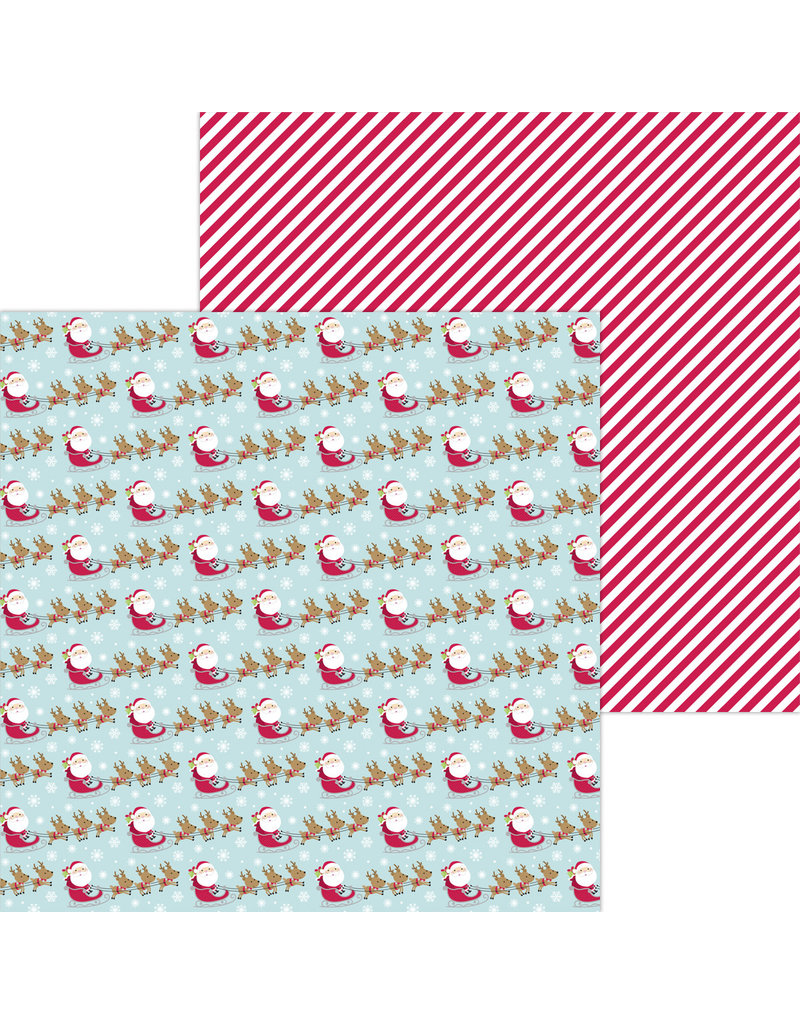 DOODLEBUG night before christmas dash away double-sided cardstock
