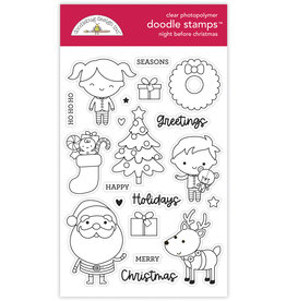 DOODLEBUG night before christmas doodle stamps