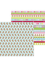 DOODLEBUG night before christmas dasher & co. double-sided cardstock