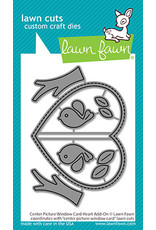 lawn fawn center picture window card heart add-on die