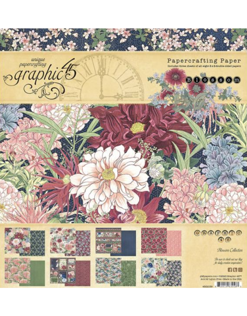 Graphic 45 Blossom: 8x8 pad