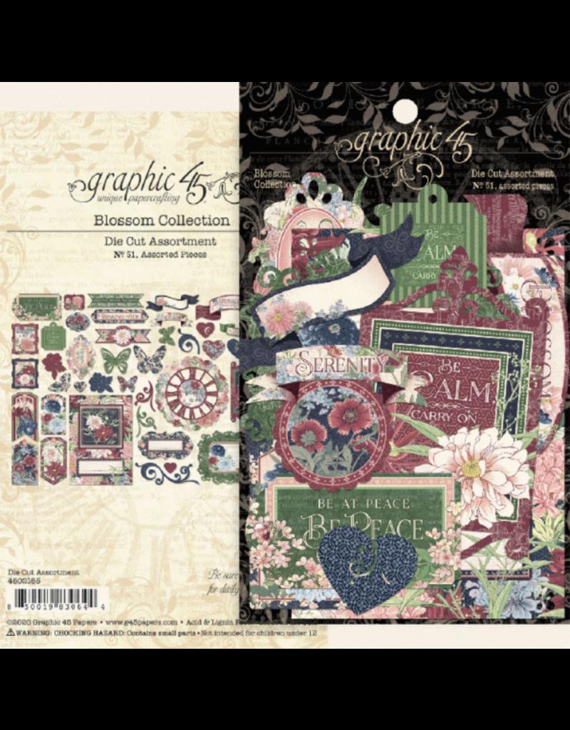 Graphic 45 Blossom: Die cut assortment