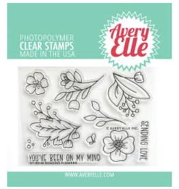 avery elle Sending Flowers Stamp