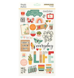 simple stories Hello Today :  6x12 Chipboard