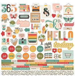 simple stories Hello Today :  Cardstock Sticker