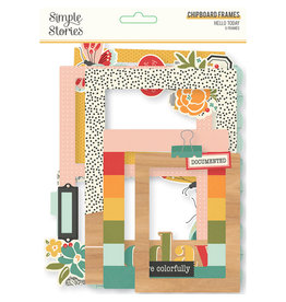 simple stories Hello Today :  Chipboard Frames