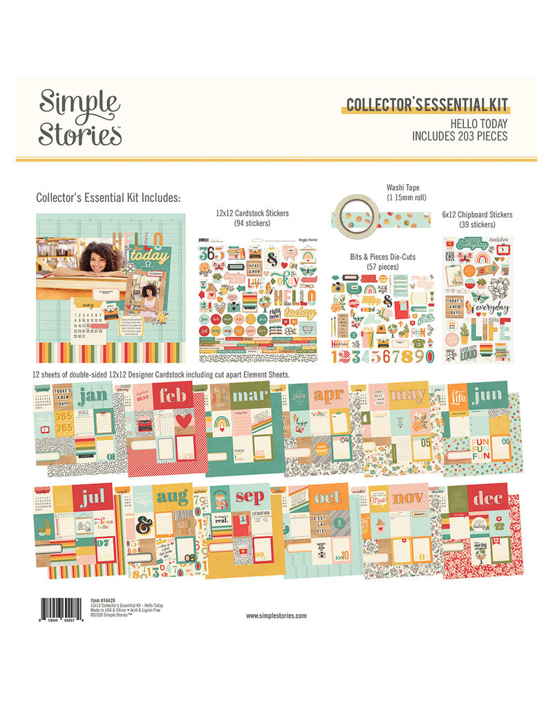 simple stories Hello Today :  Collector's Essential Kit
