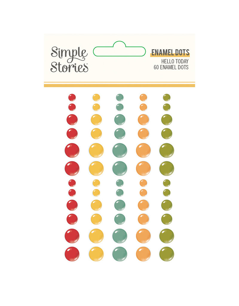 simple stories Hello Today :  Enamel Dots