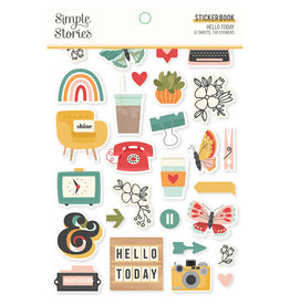simple stories Hello Today :  Sticker Book