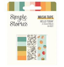 simple stories Hello Today :  Washi Tape