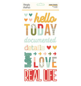 simple stories Hello Today : Foam Stickers