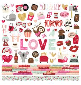 simple stories Sweet Talk :  Cardstock Sticker
