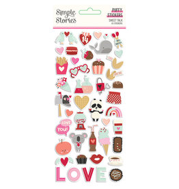 simple stories Sweet Talk :  Puffy Stickers