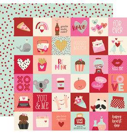 simple stories Sweet Talk Paper:  2x2 Elements