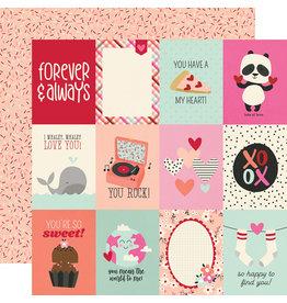 simple stories Sweet Talk Paper:  3x4 Elements