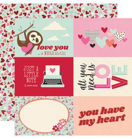 simple stories Sweet Talk Paper:  4x6 Elements