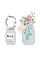 sizzix 1 Jar of Flowers Thinlits Die Set