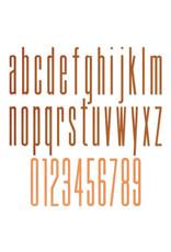 Tim Holtz Alphanumeric Stretch Lower & Numbers Thinlits Die Set