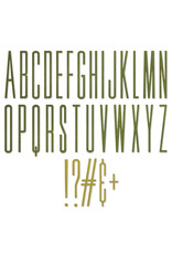 Tim Holtz Alphanumeric Stretch Upper Thinlits Die Set