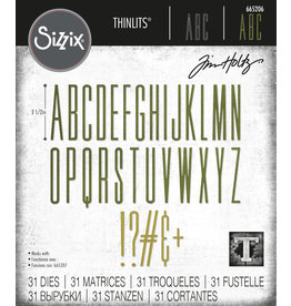 Tim Holtz Alphanumeric Stretch Upper Thinlits Die Set