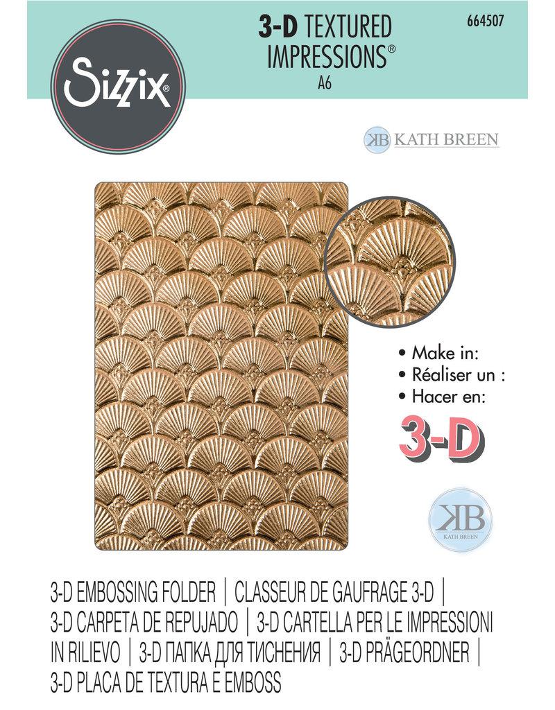 sizzix Art Deco3-D Textured Impressions Embossing Folder