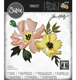 Tim Holtz Brushstroke Flowers #1 Thinlits Die Set