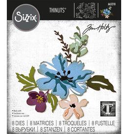 Tim Holtz Brushstroke Flowers #2 Thinlits Die Set