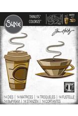 Tim Holtz Cafe Colorize Thinlits Die Set