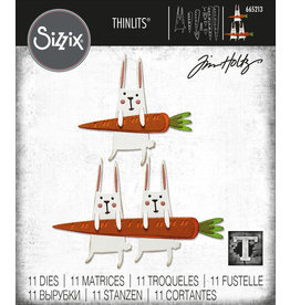 Tim Holtz Carrot Bunny Thinlits Die Set