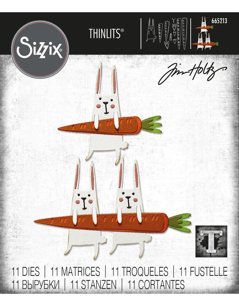 Tim Holtz Carrot Bunny Thinlits Die Set